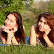 Two beautiful girls at a picnic — Stock Photo #10829890
