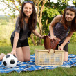 Two beautiful girls at a picnic — Stock Photo #10830085
