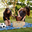 Two beautiful girls at a picnic - Foto de Stock