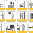 Stock Photo: Set of vector icons for shopping center
