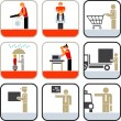 Stock Photo: Service icons