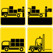 Stock Photo: Delivery, loading area, discharge - vector icon set