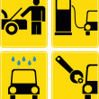 Car service, fuel station, auto repair - vector icon set — Stock Photo #10773642