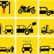 Stock Photo: Auto service vector icon set