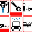 ������, ������: Car service icon set