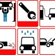 Car service icon set — Stock Photo
