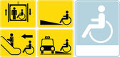Wheelchair icon set — Stock Photo