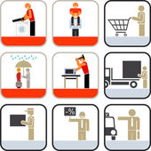 Service icons — Stock Photo