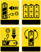 Battery charge - vector icons — Stock Photo