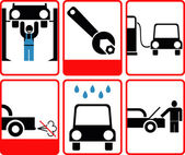 Car service icon set — Stock Photo