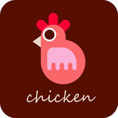 Chicken - vector icon — Stock Vector