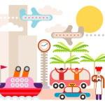 Resort - vector illustration — Stock Vector