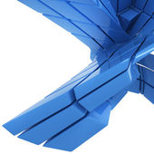Blue abstract geometry — Stock Photo