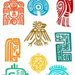Stock Vector: Ancient mayelements and symbols