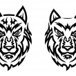Tribal wolf tattoo — Stock Vector