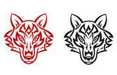 Lobo salvaje — Vector de stock
