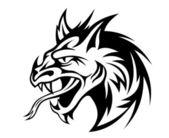 Angry dragon — Stock Vector