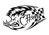 Offroad boar tattoo — Stock Vector