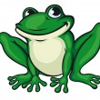 Stock Vector: Big green frog