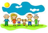 Happy family — Stock Vector