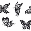 Butterfly tattoos — Stock Vector
