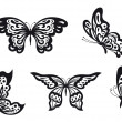 Stock Vector: Butterflies set