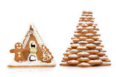 Gingerbread Christmas symbols — Stock Photo
