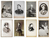 Group of old photographs — Foto Stock