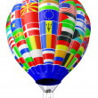 Stock Photo: Balloon symbol of globalization