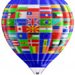 Balloon a symbol of globalization — Stock Photo #10805692