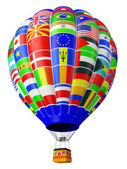 Balloon a symbol of globalization — Stock Photo