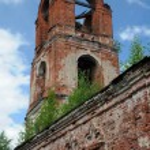 Detail of Half-ruined Russian Orthodox Church — Stock Photo