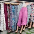 Stock Photo: Inexpensive Clothing at Market