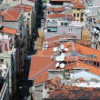 Damaged Tiled Roofs of Istanbul - Stock Photo