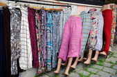 Inexpensive Clothing at the Market — Stock Photo