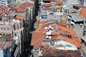 Damaged Tiled Roofs of Istanbul — Stock Photo