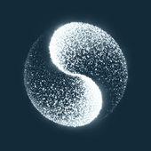 Ying yang — Stockvektor