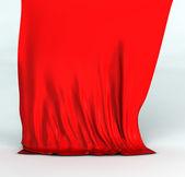 Red silk drapery — Stock Photo