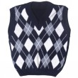 Plaid baby knitted vest — Stock Photo