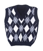 Plaid baby knitted vest — Foto Stock