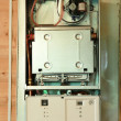 Gas boiler under repair — Stock Photo