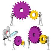 Set of teamwork icons — Stock Photo