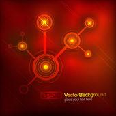 Techno background — Vecteur