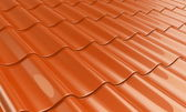 Metal tile orange — Stock Photo