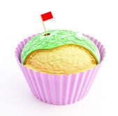 Cupcake Golf — Stock Photo