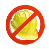 No work construction helmet — Stock Photo