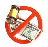 No law dollar on a white background — Stock Photo