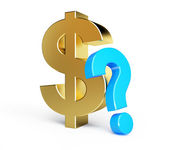 Dollar question mark — Stock Photo