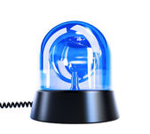 Blue flashing light — Stock Photo