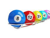Lottery balls — Stock Photo